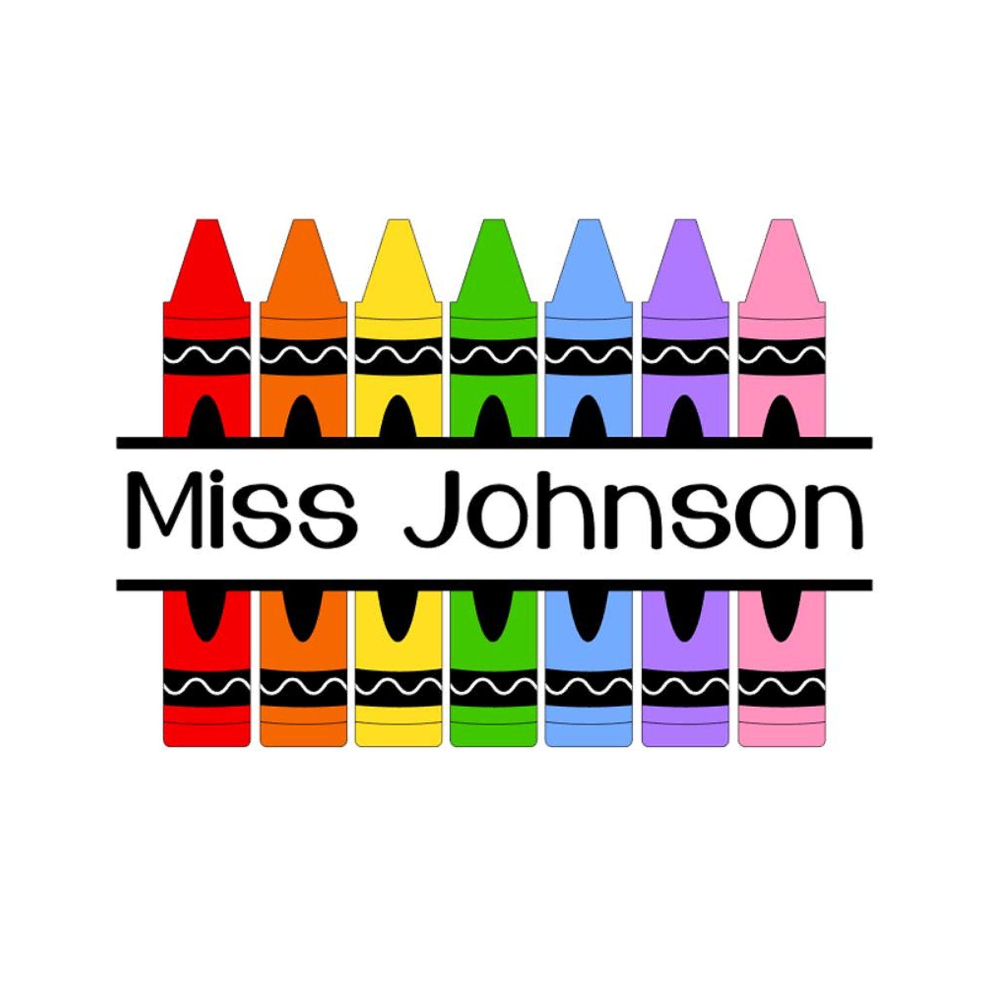 Crayon Decal Name Decal Crayon Sticker Teacher Gift Etsy In 2020 Art Teachers Classroom Teachers Diy Art Teacher Classroom Decor