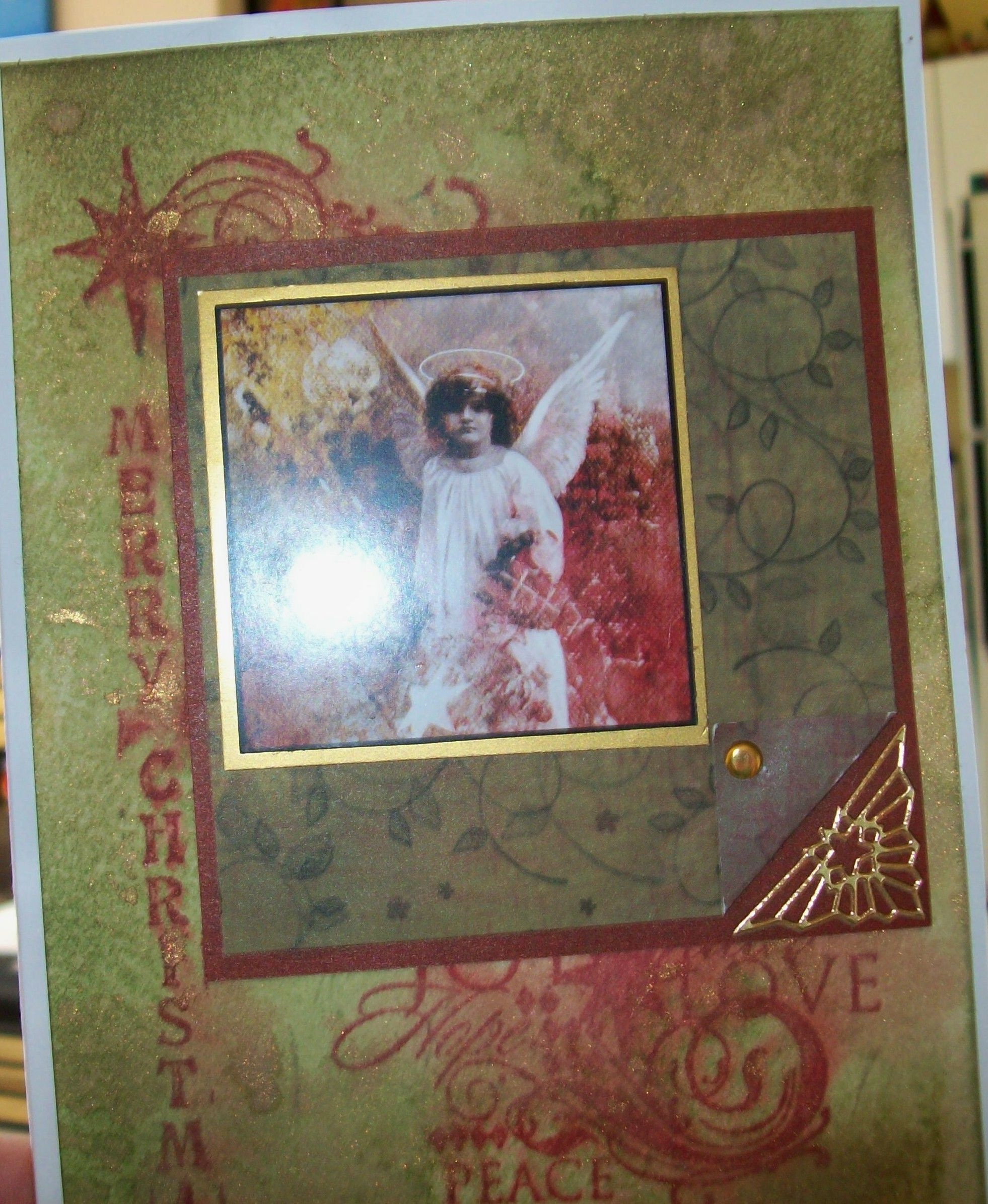 Angel Card with Glimmer Mist