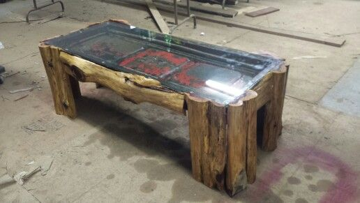 40s Ford tailgate coffee table Tailgate bench Pinterest