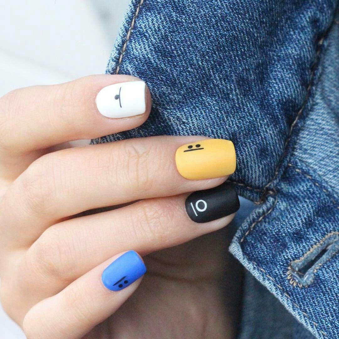 simple nails backtoschool school nails nailart Nails in