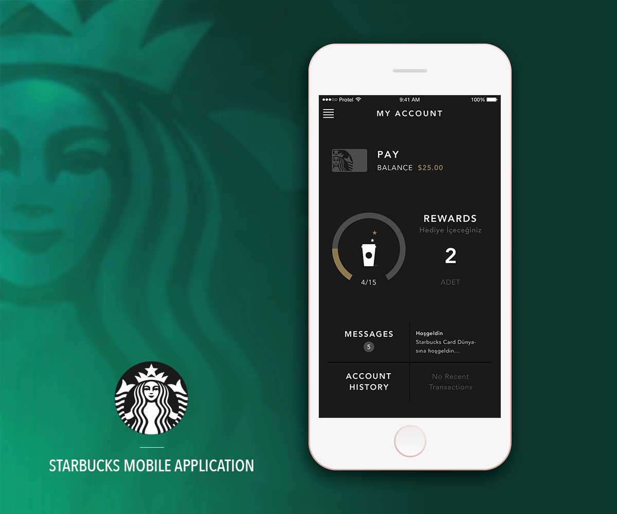 """Check out my Behance project """"Starbucks Turkey iOS"""