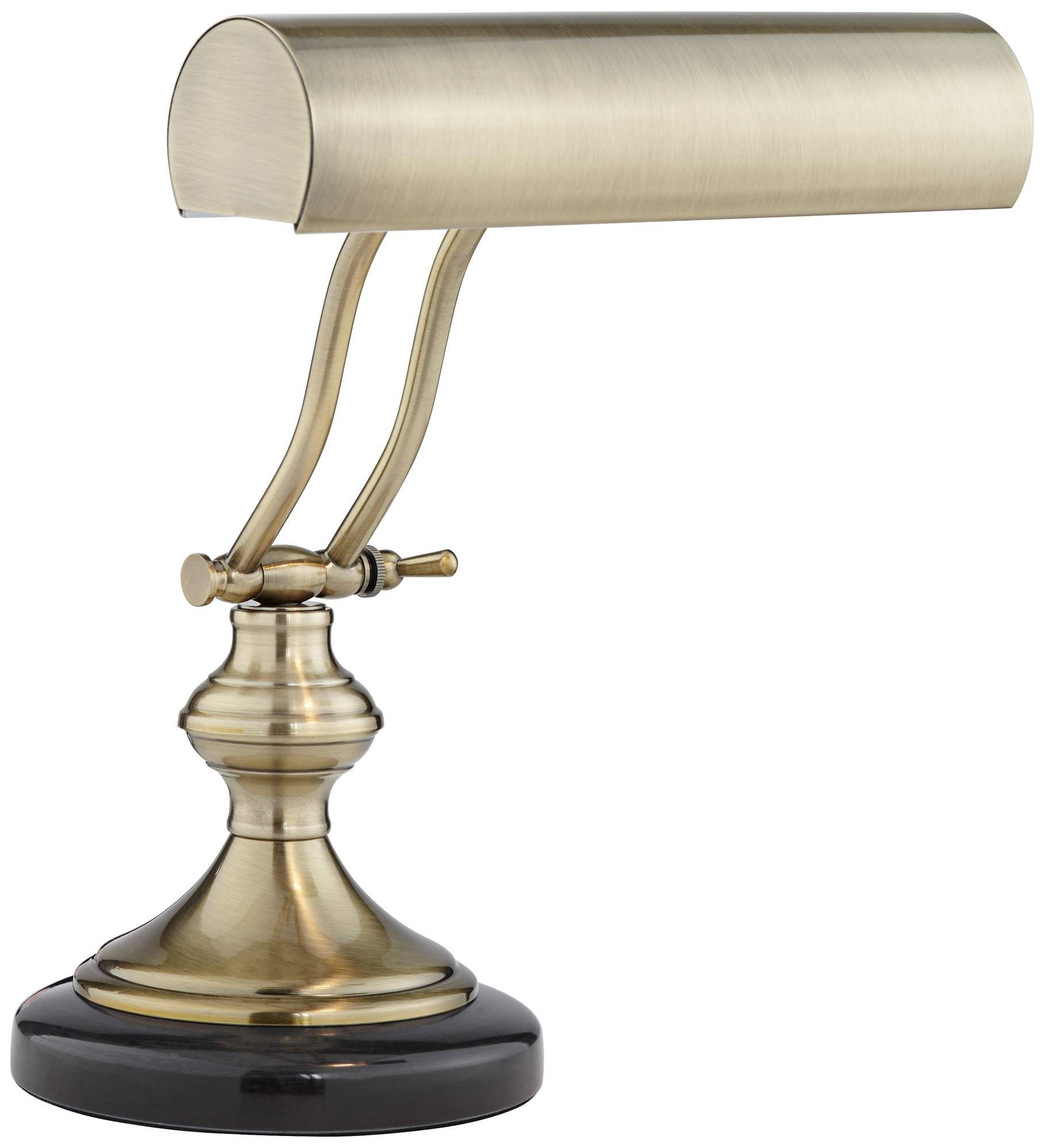 Antique Brass With Marble Piano Desk Lamp by Regency Hill is