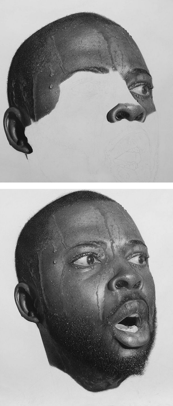Arinze stanley can spend up to 200 hours completing his hyperrealistic pencil art portraits