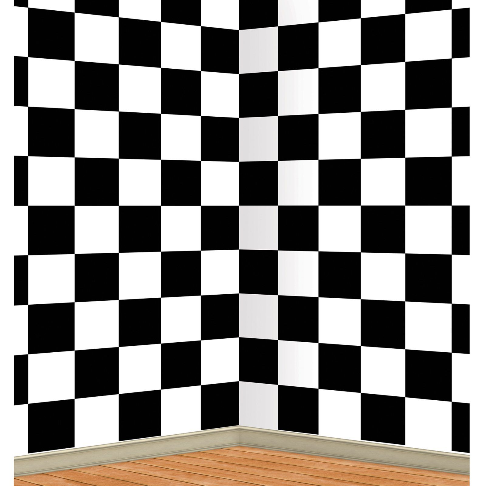Black And White Checkered Backdrop 4 H X 30 W 15 Awesome Party Supplies