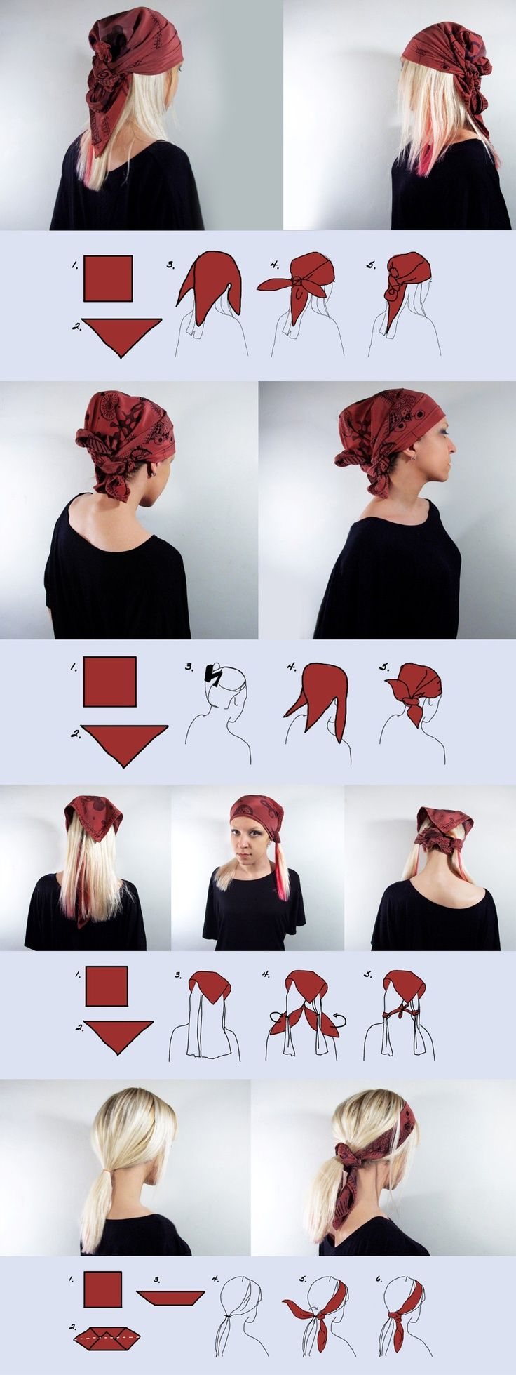 how to put a scarf on your head