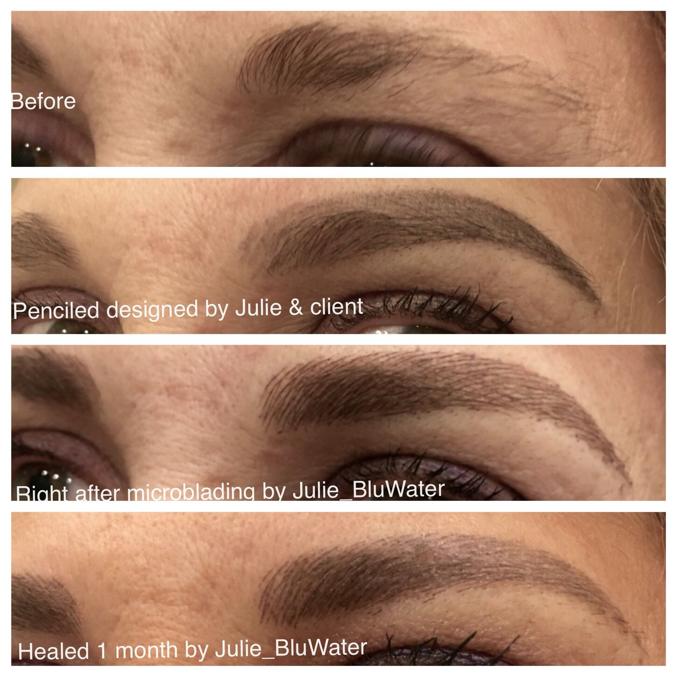 microblading which is a manual tattoo technique for semi