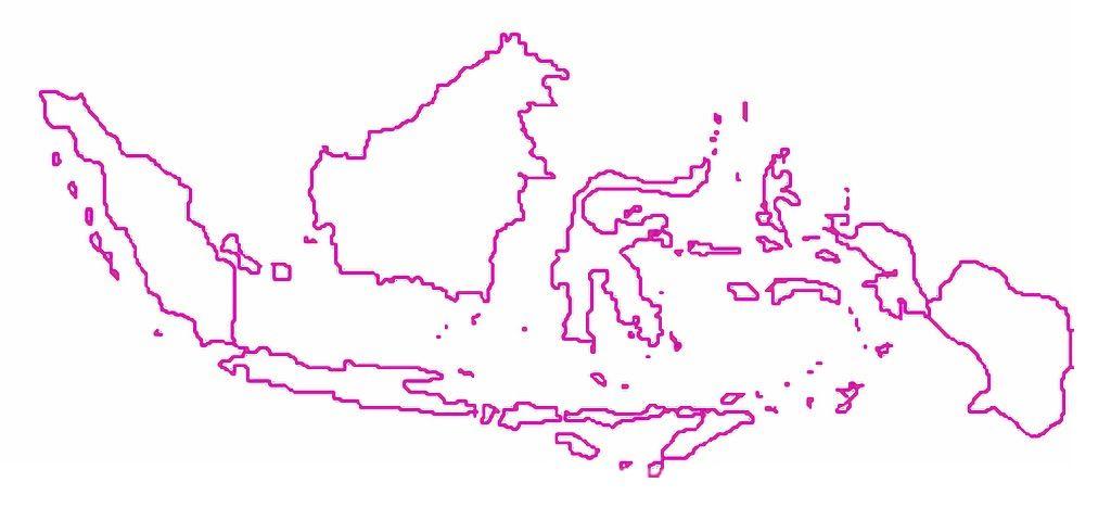 Gambar Peta Indonesia Tanpa Tulisan Dengan Gambar Peta Gambar