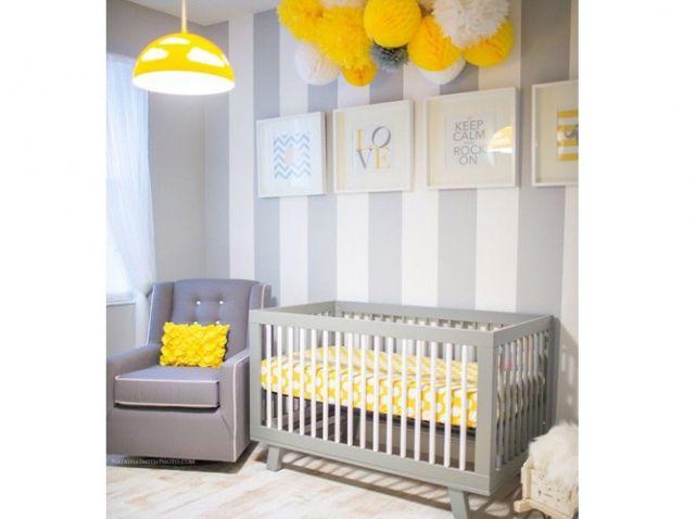 chambre bébé jaune et grise | Art de vivre | Pinterest | Nursery ...