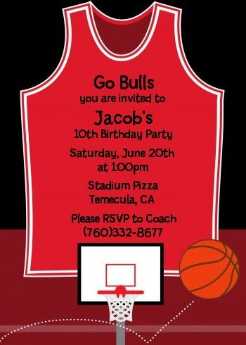 Basketball Theme Party Invitation Decorations full Printable
