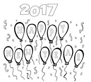 2017happynewyearcoloring  Happy new year coloring page