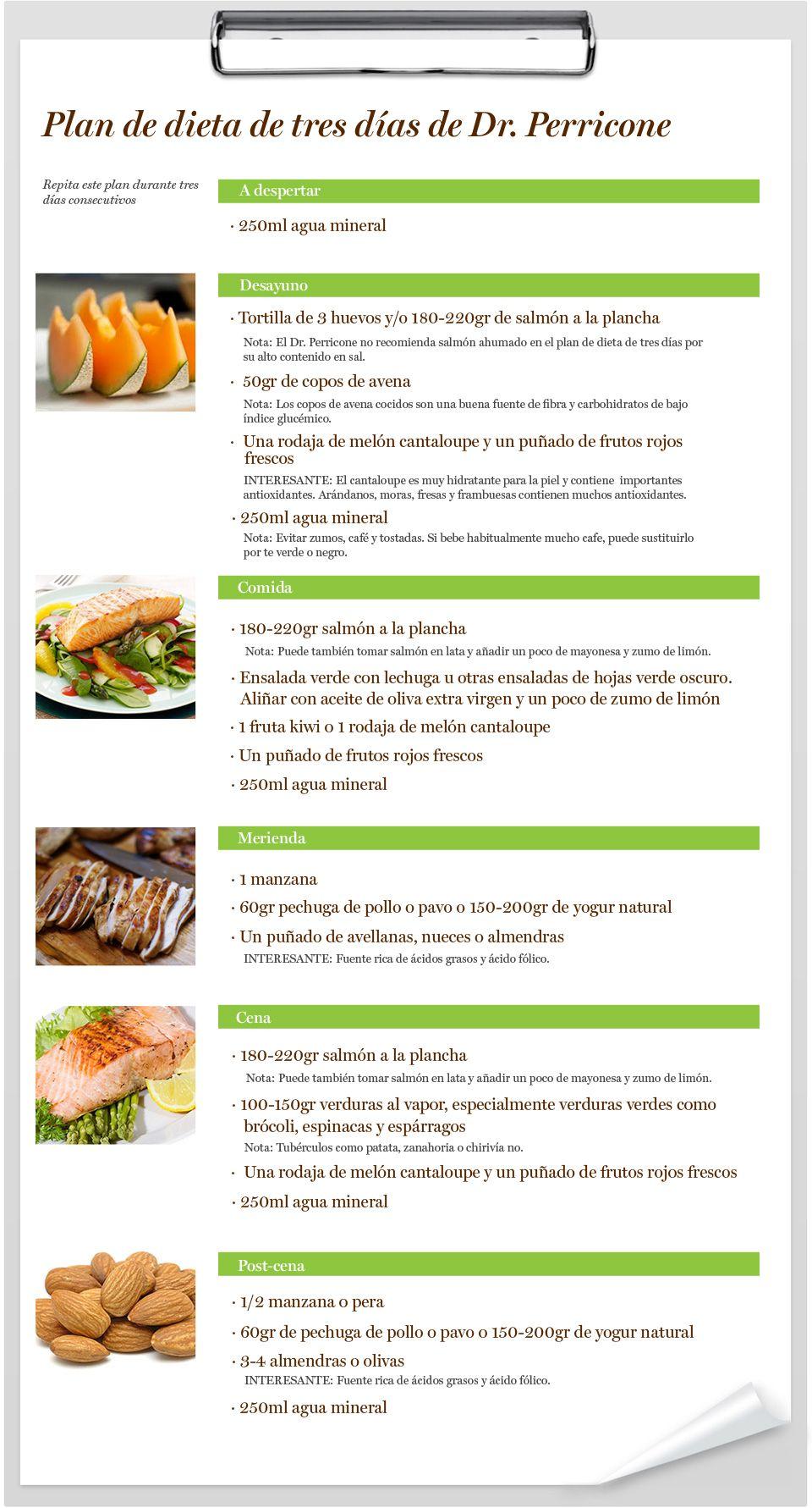 Dieta de salmon 3 dias