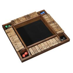 Shut the Box 4-Player Wooden Game