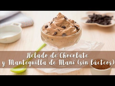 Helado de chocolate (sin azúcar ni lácteos) #163 / Sugar and dairy free Chocolate nice cream - YouTube