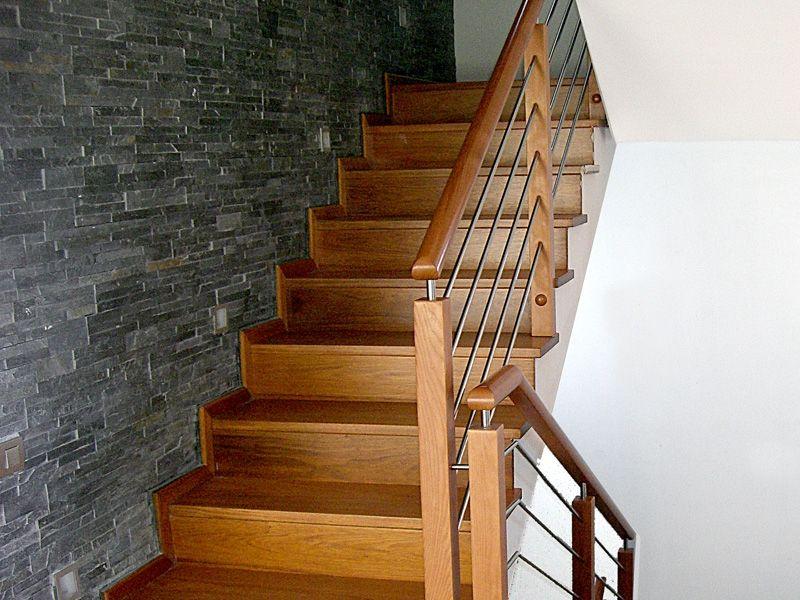 Resultado de imagen para barandas de madera barandas pinterest barandilla de madera - Barandillas de madera para interior ...