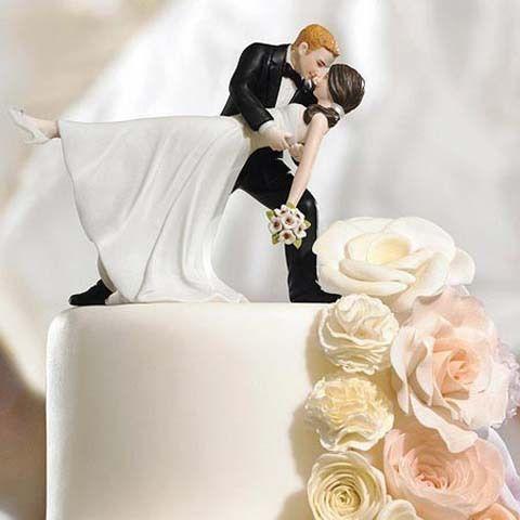 un romantique maïsdip danse- personnalisée. figurine couple