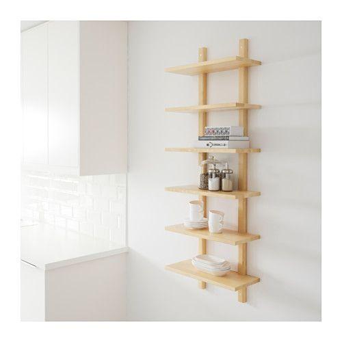 v rde wandregal birke ikea k che pinterest. Black Bedroom Furniture Sets. Home Design Ideas