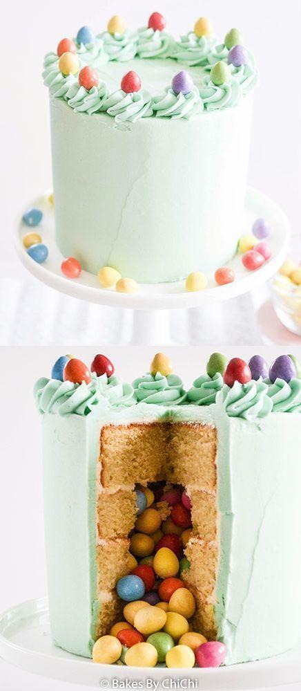 Photo of Easter Egg Vanilla Pinata Cake – Apfel Kuchen – Apfel Kuchen – Easter Egg Van… – Ostern