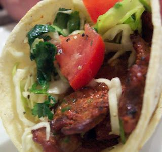 Grilled Flank Steak Tacos with Cilantro Salsa #flanksteaktacos