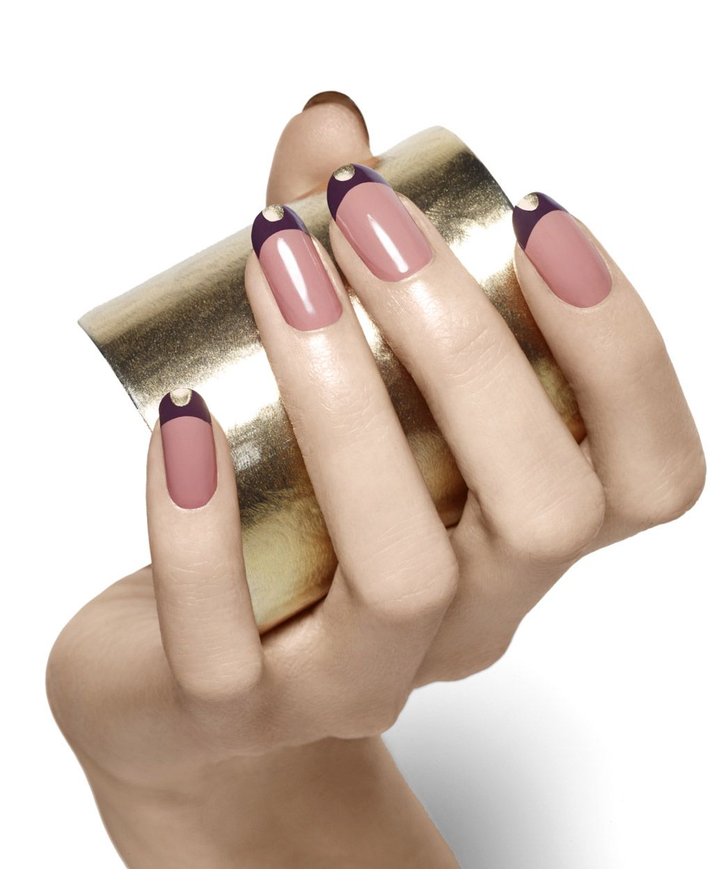 tipped in gold By Essie