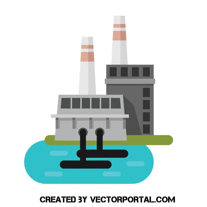 Oil Refinery Plant Vector Image