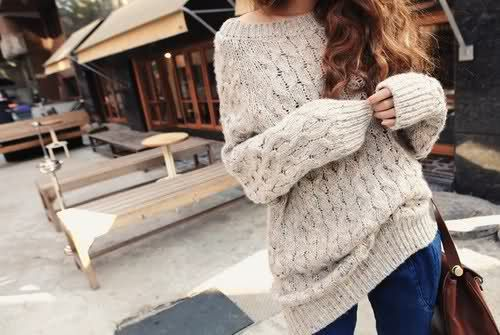 sweater. oh gracious that looks comfy