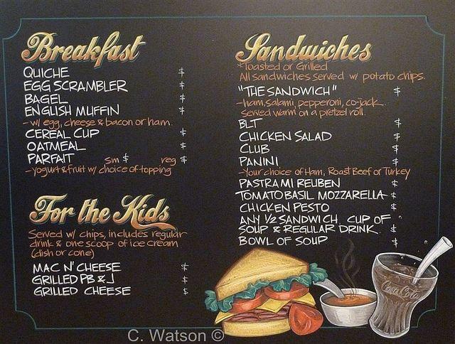 cafe menu idea chalkitupsigns