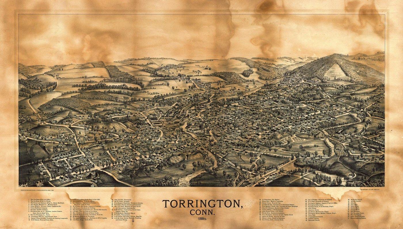 United states Old Map of Torrington