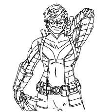 coloring pages nightwing batman is hero identity - Nightwing Coloring Pages