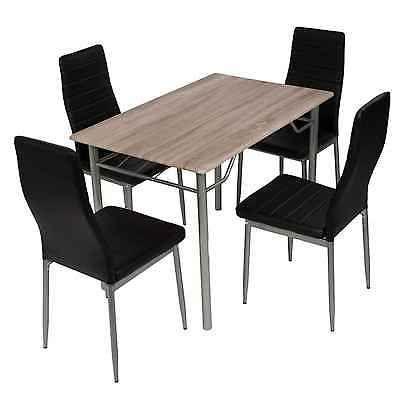 Essgruppe 5er Set Esstischgruppe Tischgruppe Sitzgruppe 4 Stühle - küchentisch mit stühlen