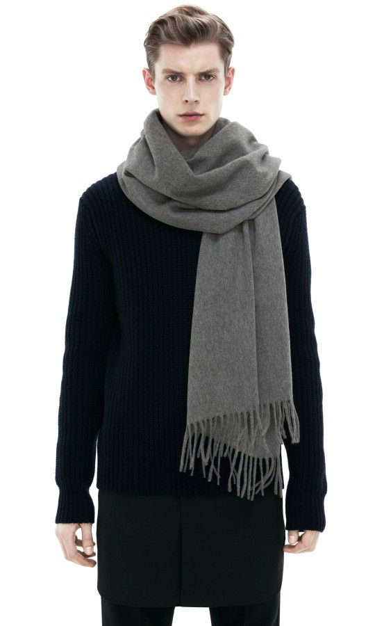 Canada Grey Melange  ACNE   150   Current wants   Acne scarf, Mens ... 06381942cf9
