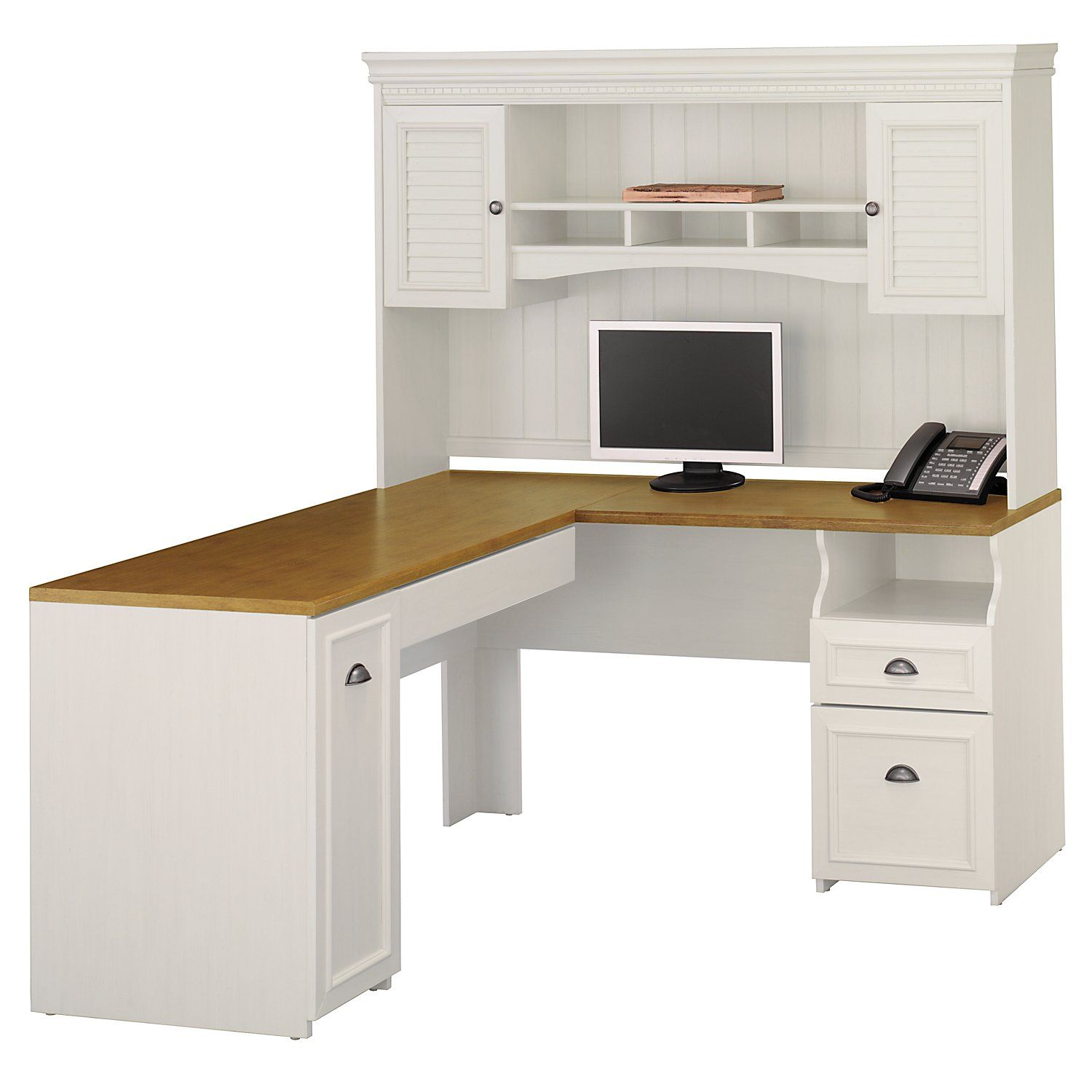 white desks for home office. White L Shaped Computer Desk With Hutch Desks For Home Office