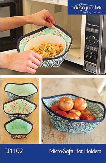 Micro-Safe Hot Holders sewing pattern from Indygo Junction