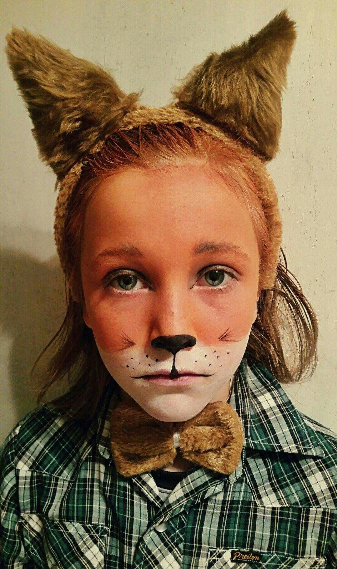Fantastic Mr Fox Foxmakeup Fox Fantasticmrfox Kidsfoxfacepaint Fantastic Mr Fox Costume Fox Costume Diy Fantastic Mr Fox