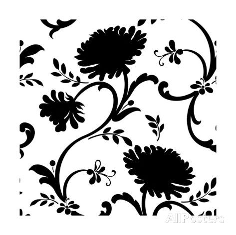 Black and white floral print with three blossoms art print black and white floral print with three blossoms art print mightylinksfo Image collections