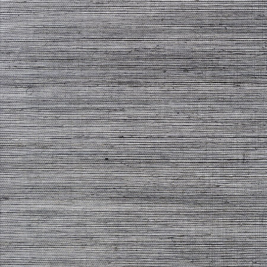 allen + roth Silver and Black Grasscloth Unpasted Textured