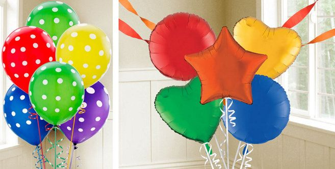 Rainbow Balloons Party City rainbow party Pinterest Rainbow