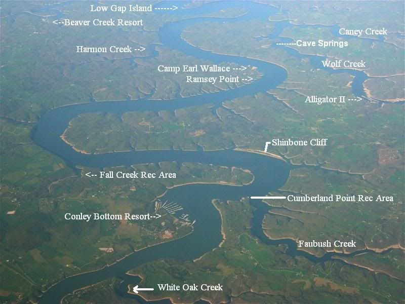 lake cumberland map with creek names Lakecumberlandboaters Com View Topic Name A Creek Cove Or lake cumberland map with creek names