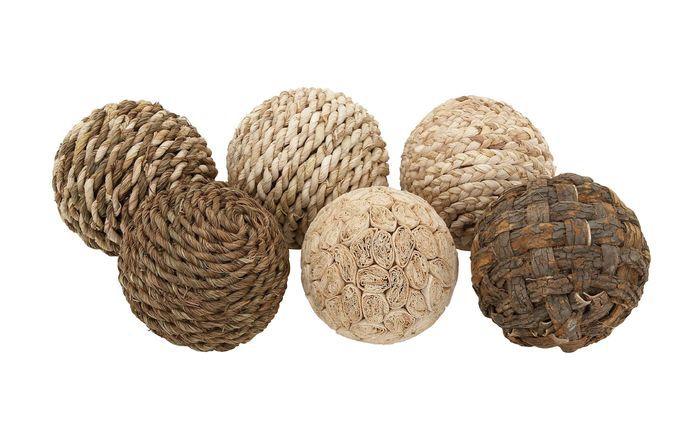 Decorative Dried Ball 6 Piece Sculpture Set