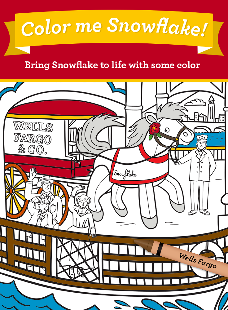 Download The Coloring Page For Our 2011 Plush Pony Snowflake Snowflake Lived In Jersey City Nj Her Daily Routine Began With Boa Color Me Pony Coloring Pages