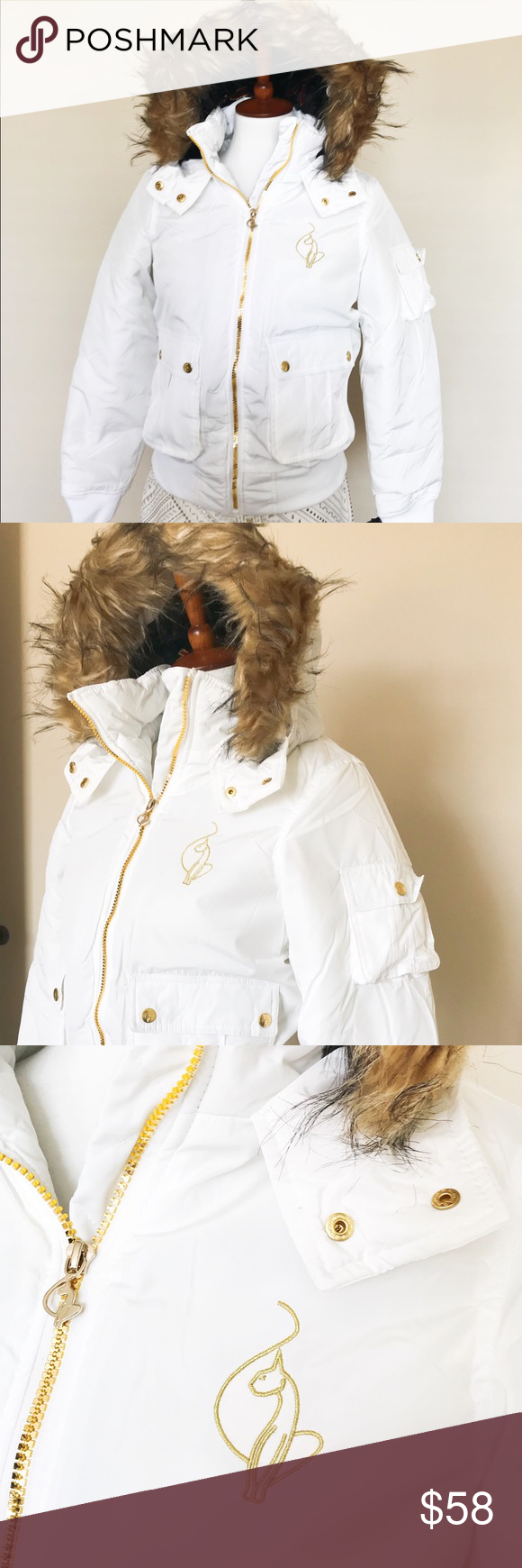 83e101c7a Baby Phat white puffer jacket New with tag. Hood is not detachable ...