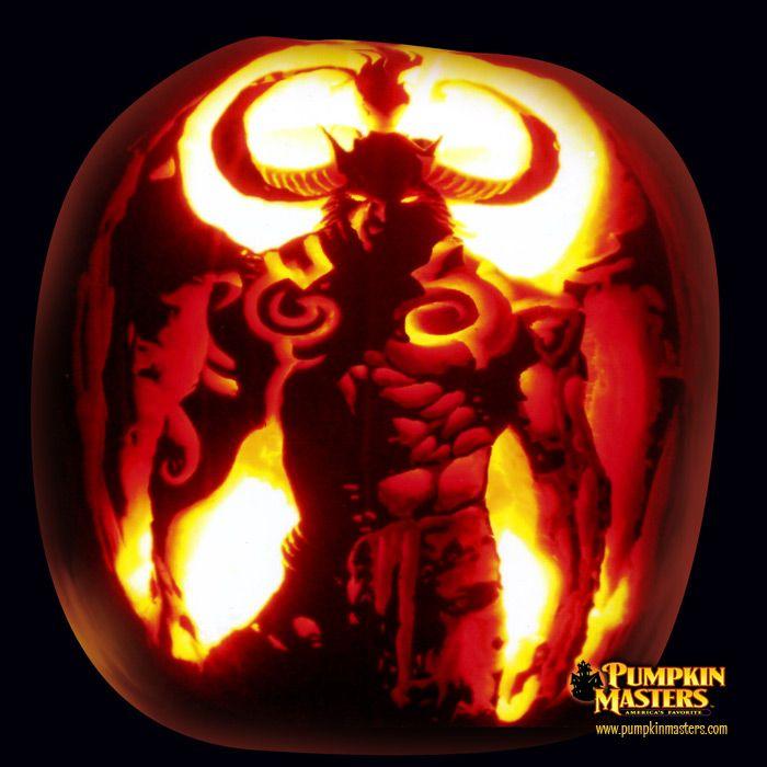 Dark demon pumpkin master carving pinterest
