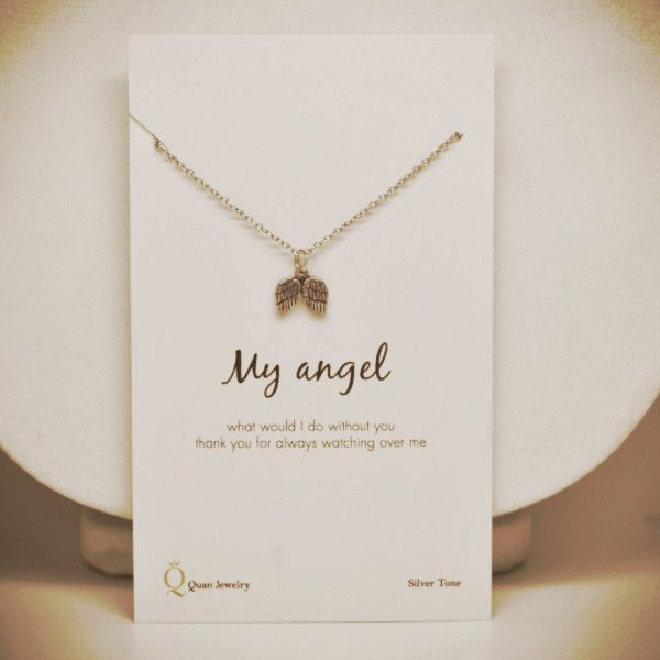 2698a04b7 Kaitlin Angel Wings Necklace, - Quan Jewelry - 1 | Love Quotes ...