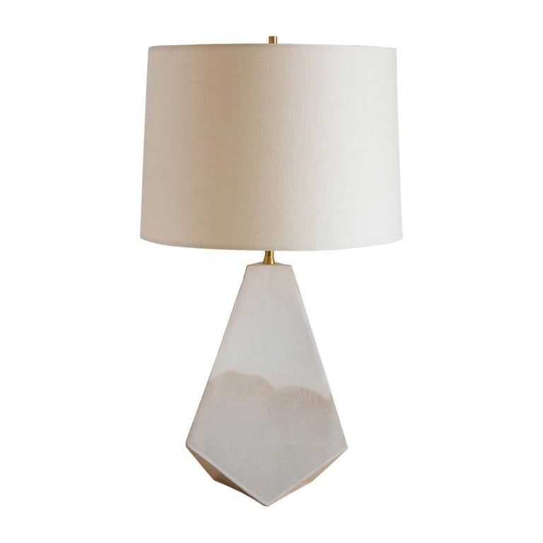 Mountain Matte And Glossy White Geometric Ceramic Table Lamp Table Lamp Table Lamps For Sale Ceramic Table Lamps