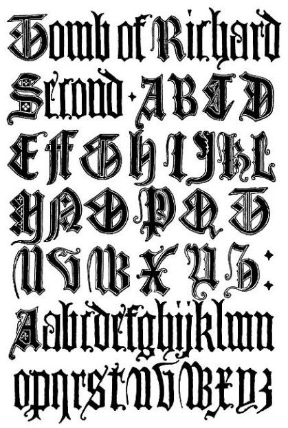 Graffiti Fonts 2c English Gothic Letters Jpg 419 622 Tattoo