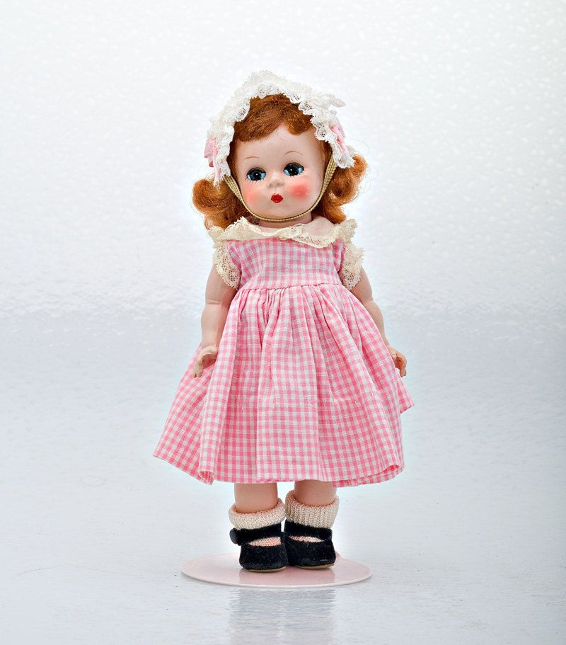 Madame Alexander  hot Pink Dress w//white lace for 8/'/' Dolls new