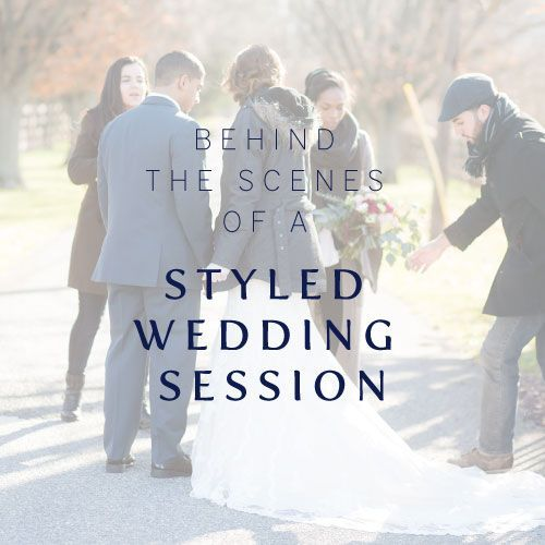 Behind The Scenes Of A Styled Wedding Session // NJ