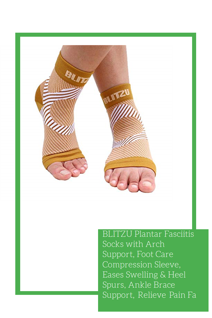2b2b6b27a4 BLITZU Plantar Fasciitis Socks with Arch Support, Foot Care Compression  Sleeve, Eases Swelling & Heel Spurs, Ankle Brace Support, Relieve Pain Fast  Nude S-M ...