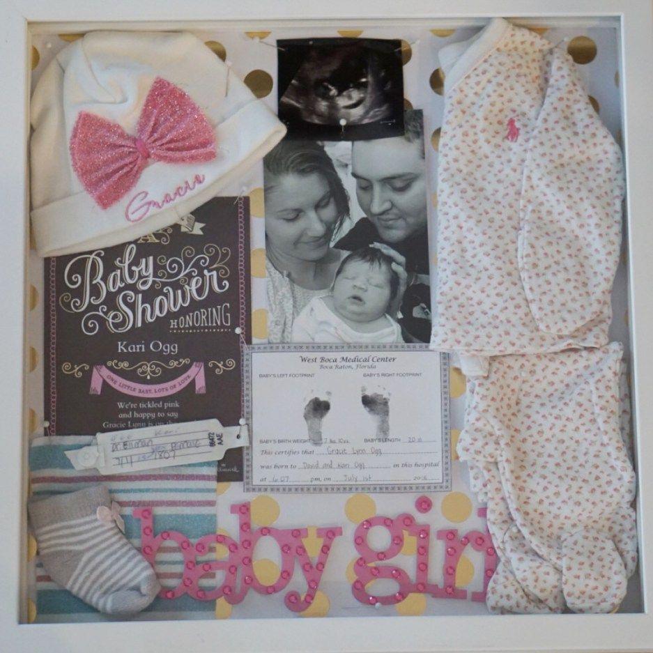 Newborn shadow box | Baby | Pinterest
