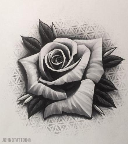 New Tattoo Rose Dotwork Flower 50 Ideas Rose Drawing Tattoo Rose Flower Tattoos Realistic Rose Tattoo