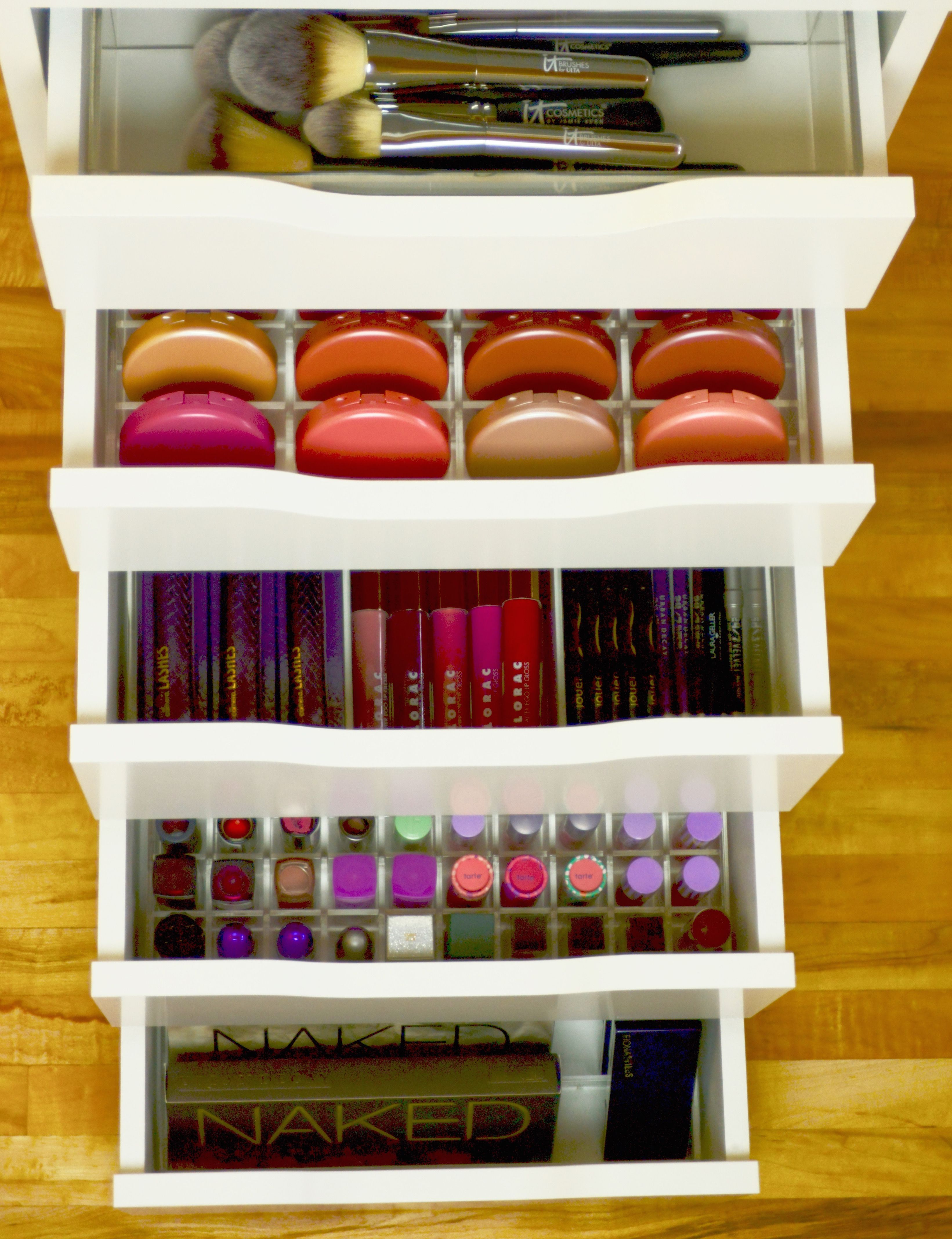 Ikea alex drawers loaded all stocked up top drawer is Makeup drawer organizer ikea